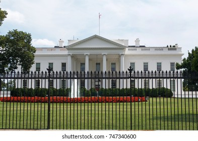 Washington D.C., July 17, 2017: The White House shot without the newer security fencing. July 17, 2017, Washington D.C. USA