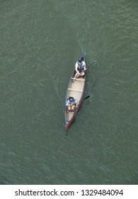 WASHINGTON DC JULY 2010 A couple paddles a canoe on the Potomac River.