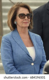 WASHINGTON, DC -- JULY 25 2017: Nancy Pelosi attends a rally on the Capitol steps after the motion to proceed vote on the Trumpcare bill.
