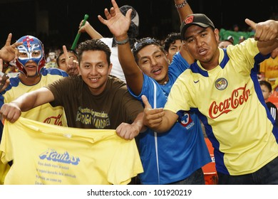 WASHINGTON, DC - JULY 29:  Club America (Mexico) fans cheer at a SuperLiga match against DC United on July 29, 2007.   Editorial use only.