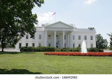 WASHINGTON, DC - JULY 29: An exterior view of the White House is shown on July 29, 2013 in Washington.