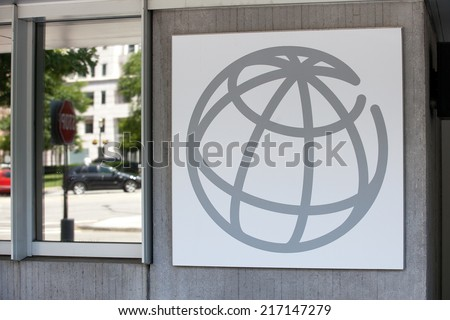 WASHINGTON, DC - JUNE 1: Sign outside the World Bank Group in downtown Washington, DC on June 1, 2014.