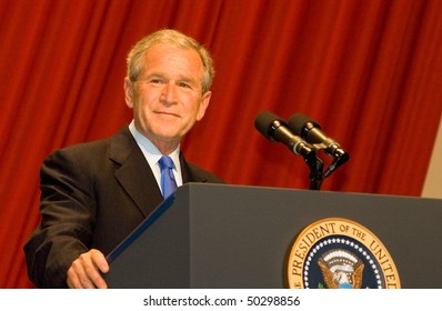 WASHINGTON D.C. - JUNE 18: President George W. Bush delivers a speech at his farewell President's Dinner on June 18, 2008 in Washington D.C.