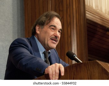 WASHINGTON, DC - JUNE 23:  Director Oliver Stone speaks on Latin American politics and his new film to the National Press Club, June 23, 2010 in Washington, DC