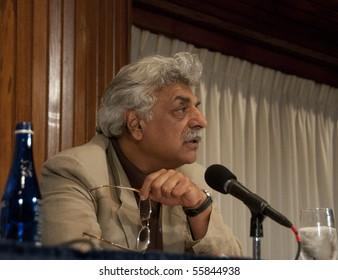 WASHINGTON, DC - JUNE 23:  Pakistani-born writer Tariq Ali answers a question regarding the Oliver Stone film for which he wrote the script, at the National Press Club, June 23, 2010 in Washington, DC