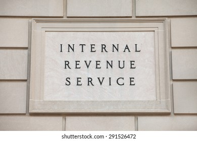 WASHINGTON, DC - JUNE 6: Sign at the Internal Revenue Service headquarters in downtown Washington, DC on June 6, 2015.