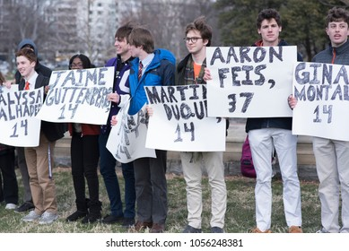 Washington, DC - March 14, 2018: National Student Walkout Protesters