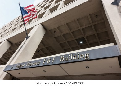 WASHINGTON, DC - MARCH 15, 2019: Headquarters of Federal Bureau of Investigation, THE FBI on Pennsylvania Avenue