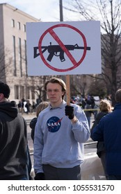 Washington, DC, March 24, 2018: March for Our Lives Teenage Protester with sign