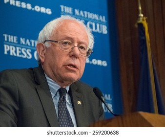 WASHINGTON, DC - MARCH 9, 2015:- U.S. Senator Bernie Sanders (Independent -Vermont) speaks at a luncheon at the National Press Club
