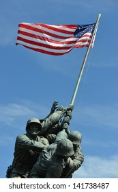 WASHINGTON, DC - MAY 05: Iwo Jima Memorial in Washington, DC on May 05, 2013. The Memorial honors the Marines who have died defending the US since 1775.