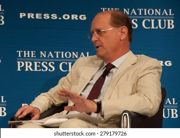 Washington, DC - May 15, 2015: Richard Anderson, chief executive of Delta Airlines speaks at the National Press Club