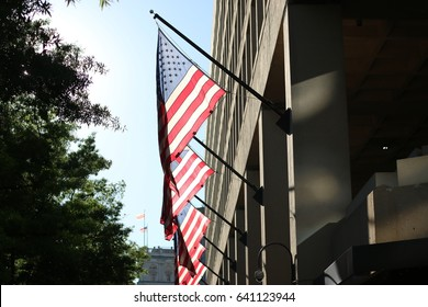 Washington, DC - May 15, 2017: The headquarters of the Federal Bureau of Investigation.