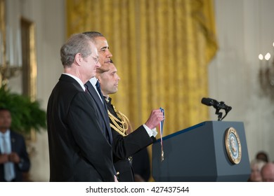 WASHINGTON, D.C. - MAY 19: President Obama awards Dr. Armand Paul Alivisatos on May 19, 2016 in Washington, D.C. The ceremony recognized the contributions of 17 top scientists and inventors.