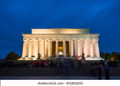 WASHINGTON, D.C. - MAY 20: The Lincoln Memorial on 20 May, 2016 in Washington, D.C., USA. This memorial was built to honor Abraham Lincoln, the 16th President of the United States.
