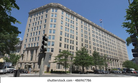 WASHINGTON, DC - MAY, 2014: Department of Veteran Affair headquarters. The VA administers a variety of benefits and services to Service members, veterans, their dependents and survivors