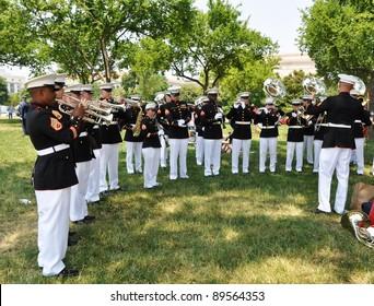 WASHINGTON, D.C. - MAY 30, 2011: rehearsal before National Memorial Day Parade on national Mall May 30, 2011, in Washington, D.C.