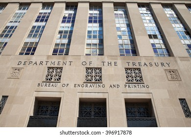 WASHINGTON, DC - MAY 4: Bureau of Engraving and Printing in Washington, DC on May 4, 2015.