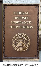 WASHINGTON, DC - MAY 4: Federal Deposit Insurance Corporation plaque in Washington, DC on May 4, 2015. Its mission is to maintain stability and public confidence in the nation's financial system.