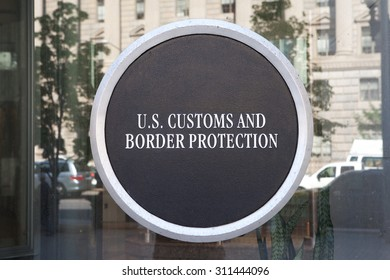 WASHINGTON, DC - MAY 4: Sign at US Customs and Border Protection Headquarters in Washington, DC on May 4, 2015.