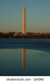 Washington DC Monument Reflected in the Potomac River
