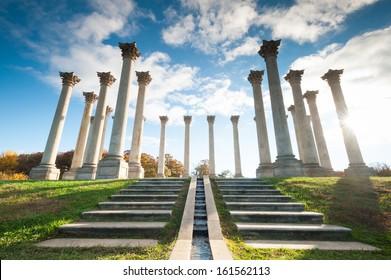 Washington DC National Arboretum Capitol Columns Monument