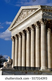 Washington, DC: The neo-classical west front of the 1935 United States Supreme Court on First Street SE