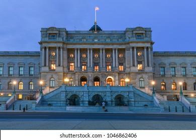 Washington DC at night - The Library of Congress