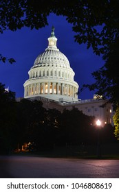 Washington DC at night - United States Capitol Building