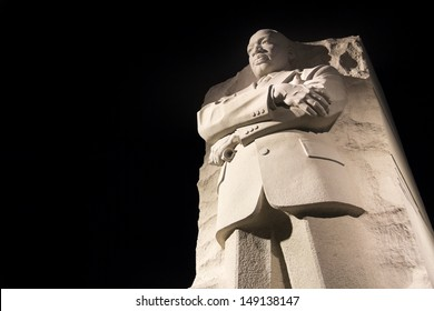WASHINGTON DC - NOV 24: Martin Luther King Jr. Monument in Washington DC , at night  United States.Washington DC on November 8, 2011.