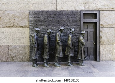 WASHINGTON DC - NOV 8: Example of a Bread line from depression era United States.Washington DC on November 8, 2011.
