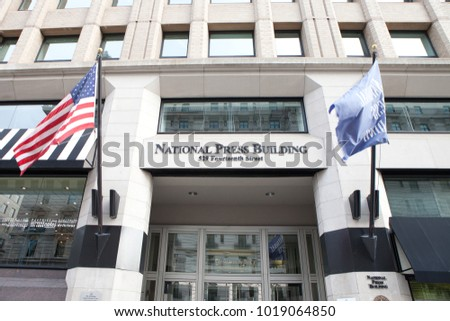 WASHINGTON, DC - NOVEMBER 11, 2017: National Press Building located in Washington, DC. The building is home to the National Press Club.
