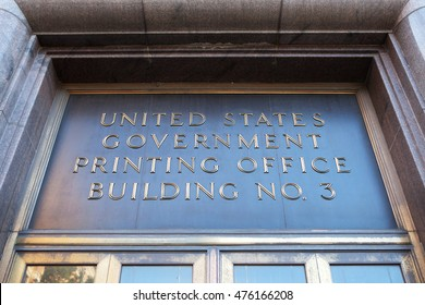WASHINGTON, DC - NOVEMBER 12: Building Number 3 of the U.S. Government Publishing Office, formerly known as the U.S. Government Printing Office, in Washington, DC on November 12, 2015.