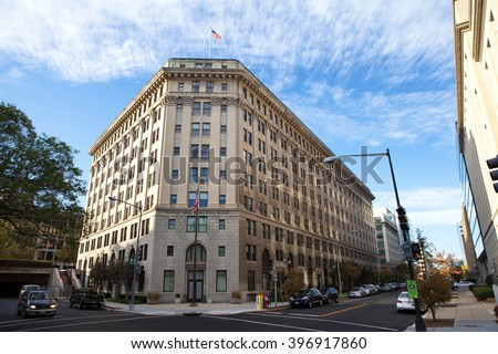 WASHINGTON, DC - NOVEMBER 12: Federal Bureau of Prisons located in the HOLC Building in Washington, DC on November 12, 2015. (Formerly the Federal Headquarters of the Home Owners' Loan Corporation)