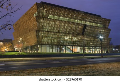 WASHINGTON, DC - NOVEMBER 25, 2016:  The National Museum of African American History and Culture opened September 24 and handles an average of 10,000 tourists a day.