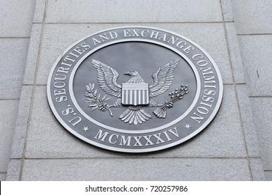 WASHINGTON, DC - NOVEMBER 26: Emblem at the U.S. Securities and Exchange Commission in Washington, DC on November 26, 2016.