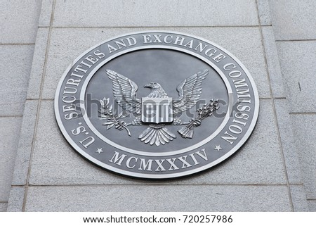 WASHINGTON, DC - NOVEMBER 26: Emblem at the U.S. Securities and Exchange Commission in Washington, DC on November 26, 2016.