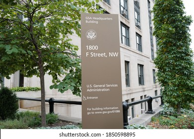 Washington, DC – November 9, 2020: The General Service Administration Building (GSA) where Trump appointee and Director Emily Murphy is refusing to sign the required paperwork for Biden's transition.
