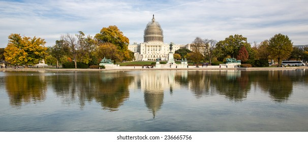 Washington, DC - November 9: View of the United States Capitol Building in Washington, DC on November 9, 2014.