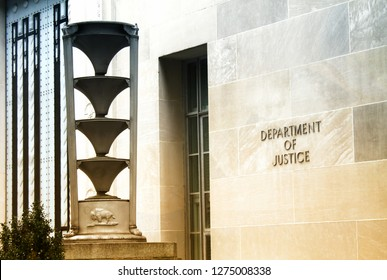 WASHINGTON, DC - Oct 2, 2011:  the Department of Justice (DOJ) in Washington, DC  The DOJ is led by the Attorney General, the nation's top law enforcement official.
