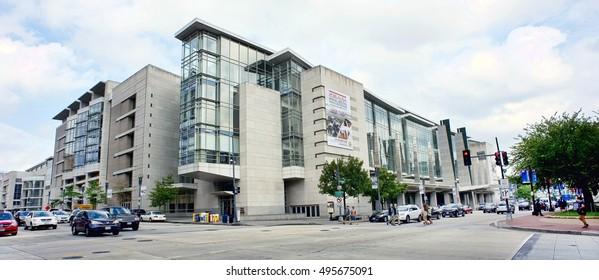 Washington DC. - Oct 4,2016  Downtown Washington DC. the Walter E. Washington Convention Center building.