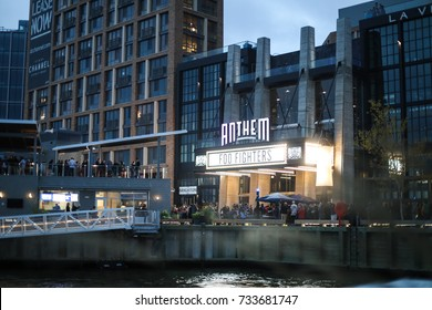 Washington, DC - October 12, 2017: A new venue at the newly opened District Wharf, The Anthem, will host the Foo Fighters in an upcoming concert.