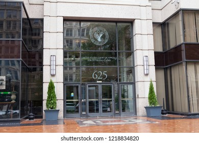 WASHINGTON, DC - OCTOBER 27, 2018: The United States Court of Appeals for Veterans Claims was established in 1988.