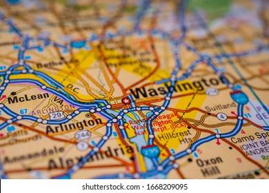 Washington D.C. on USA map