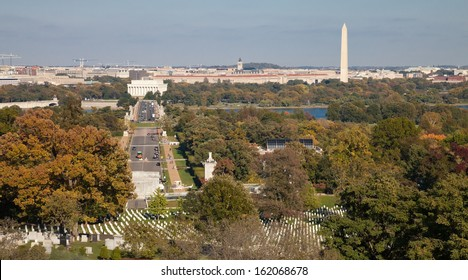Washington DC panorama - Aerial view of Arlington Hill