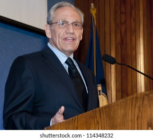 WASHINGTON, DC - SEPT. 21: Washington Post investigative reporter Bob Woodward speaks at a dinner at the National Press Club, September 21, 2012 in Washington, DC