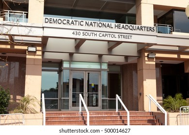 WASHINGTON, DC - SEPTEMBER 10: Entrance to the Democratic National Committee Headquarters in Washington, DC on September 10, 2016.