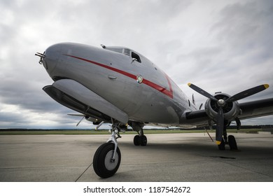 Washington, DC - September 16, 2018: The famous Douglas C-54 Skymaster aircraft was used during the 1948 / 1949 Berlin Airlift. It also carried presidents, prime ministers and military staff.