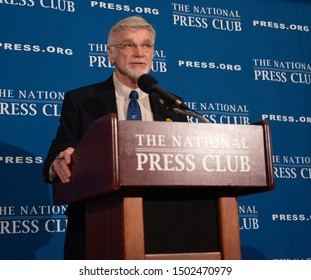 Washington, DC - September 4, 2019: United Mine Workers president Cecil Roberts speaks to the National Press Club