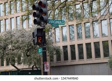Washington DC street sign for Virginia Ave 1900